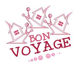 Bon Voyage embroidery design
