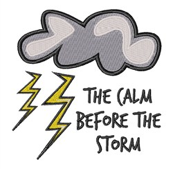 Calm Before The Storm embroidery design