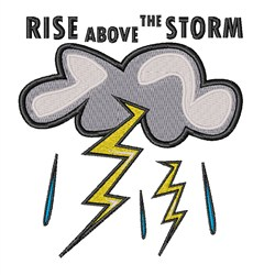 Rise Above The Storm embroidery design