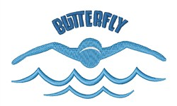 Butterfly Stroke embroidery design