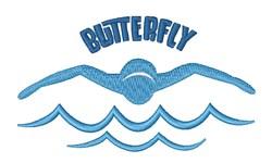 Butterfly Stroke embroidery design