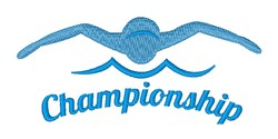 Swimming Championship embroidery design