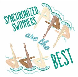 Synchronized Swimmers embroidery design