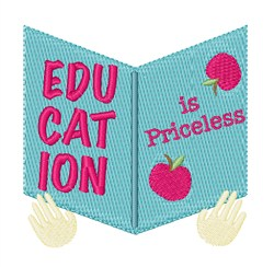 Education Is Priceless embroidery design