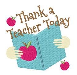 Thank A Teacher Today embroidery design