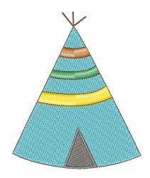 My Home Teepee embroidery design
