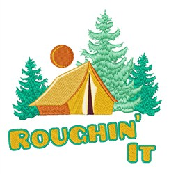 Roughin It Campsite embroidery design