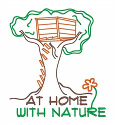 At Home With Nature embroidery design