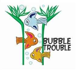Bubble Trouble embroidery design