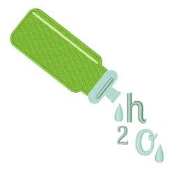 H2O embroidery design