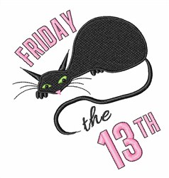 Friday The 13th embroidery design