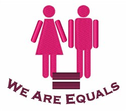 We Are Equals embroidery design