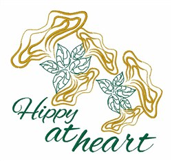 Hippy At Heart embroidery design