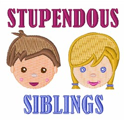 Stupendous Siblings embroidery design