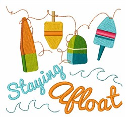 Staying Afloat embroidery design
