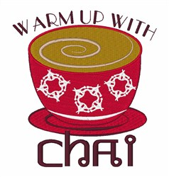 Warm Up With Chai embroidery design