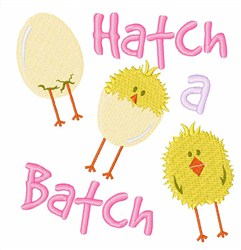 Hatch A  Batch embroidery design