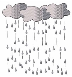 Rain Rain Come Again embroidery design