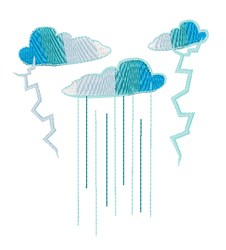 Thunder Showers embroidery design