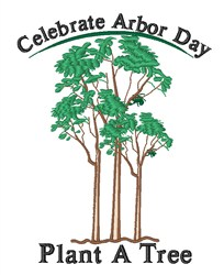 Celebrate Arbor Day embroidery design