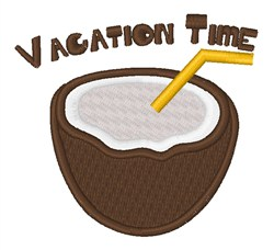 Vacation Time embroidery design