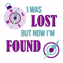 Was Lost Now Found embroidery design