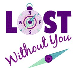 Lost Without You embroidery design