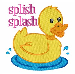 Splish Splash Duck embroidery design