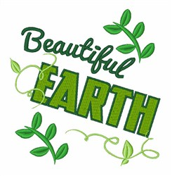 Beautiful Earth embroidery design