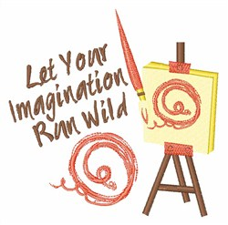 Paint With Your Imagination embroidery design