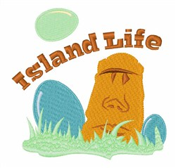 Easter Island Life embroidery design