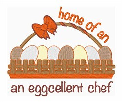Eggcellent Chef embroidery design