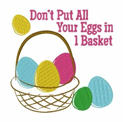 Eggs In A Basket embroidery design