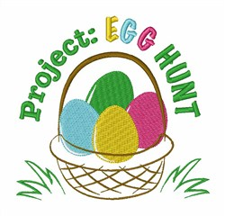 Project Egg Hunt embroidery design