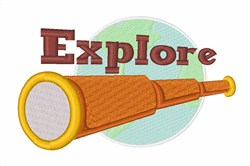 Explore Telescope embroidery design