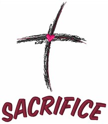 Religious Cross Sacrifice embroidery design
