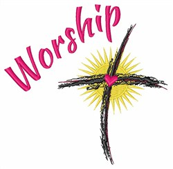 Religious Cross Worship embroidery design