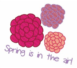 Springs In The Air! embroidery design