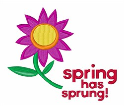 Spring Has Sprung! embroidery design