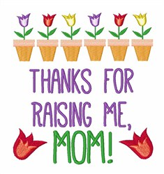 Thank You Mom! embroidery design