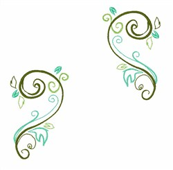 Swirls embroidery design