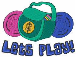 Lets Play embroidery design
