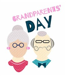 Grandparents Day embroidery design