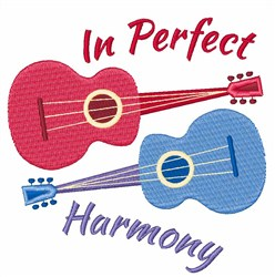 In Perfect Harmony Guitar embroidery design