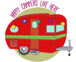 Happy Campers embroidery design