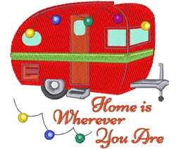 Home Is Wherever embroidery design