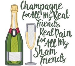 Champagne Friends embroidery design