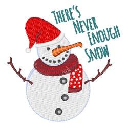 Enough Snow embroidery design