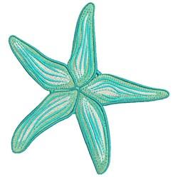Ripple Starfish embroidery design