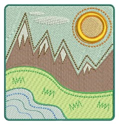 Mountain Landscape embroidery design